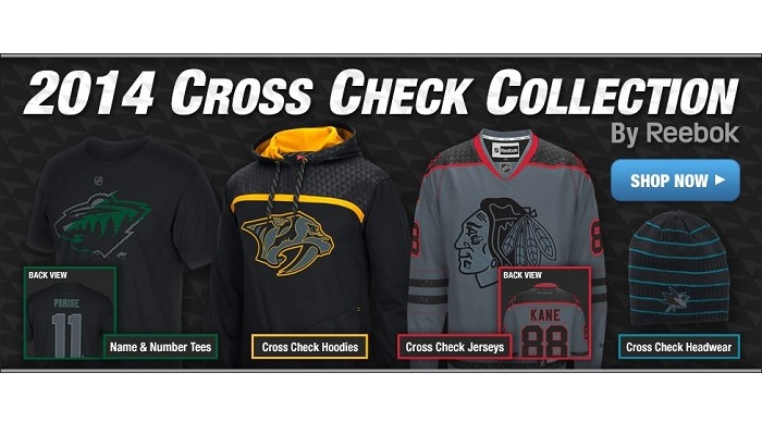 nhl cross check apparel